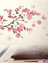 Fleurs papillon Removable Wall Sticker