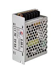 Angibabe 30W 5V sortie 6A Alimentation à découpage pour la lumière de bande de LED, entrée 110/220V AC