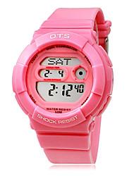 Femininos Multi-Funcional Digital Dial Rubber Band relógio de pulso (cores sortidas)