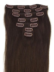 26 Inch 7Pcs 120g Clip in  Human Human Hair Extensiiion Straight Multiple Colors Available