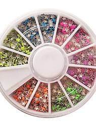 Decoraciones del clavo de 12 colores fluorescentes Pentagram Rivet