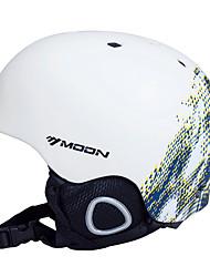 LUNA Ciclismo blanco y azul PVC / EPS Light Ski / Snowboard Helmet