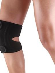 Sport en silicone genou rotule 4 ressort de croisillon de soutien Emballage capuchon - Taille libre