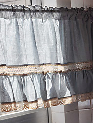 "Classic Blue Solid Lace Mediterranean Style Valance (20""L×71""W)"