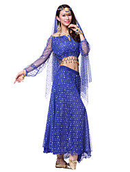 Dancewear Pretty Nylon & Tulle Beading Belly Dance Outfits With Veil(More Colors,Top & Skirt)