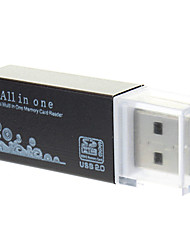 All-in-een USB 2.0 Micro SD Memory Card Reader (paars / zwart)