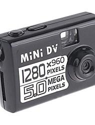 1280 * 960 mini portatile nero della macchina fotografica tascabile Mini DV DVR Video / Audio Cam Webcam 5MP