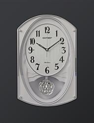 """17.75 """"H Современный стиль Мелодия Белый Часы настенные с маятником"""