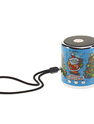 Portable Music Speaker with Santa Pattern