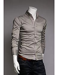 Camisa Solid elegantes de los hombres