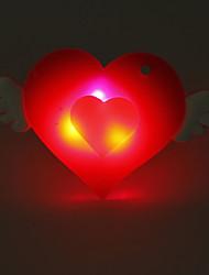 Heart Shaped мигающий значок с крыльями - Набор 6