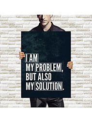 Stretched Canvas Art Words I Am My Problem But Also My Solution