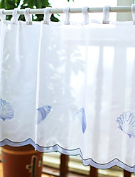 "Blaue elegante Shell Pattern Valance (11 ""L x 39"" W)"