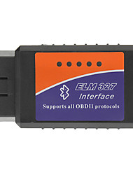 OBDII Bluetooth-Auto-Diagnosekabel - Schwarz + Blau + Orange (DC 12V)