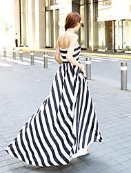 TS-Fashion Stripes Bandeau Maxi Dress