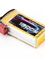 YKS 11.1V 1300mAh 3S 20C Li-Po Battery (T Plug)