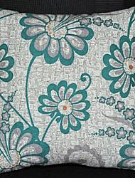Coussin décoratif Vert Motif hiver Jasmine avec insert