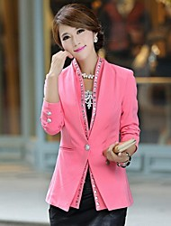 Women's Stand  Solid Color Leisure  Blazer
