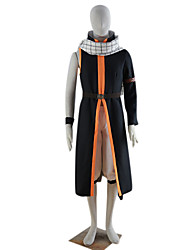 Inspired by Fairy Tail Natsu Dragneel Anime Cosplay Costumes Cosplay Suits Patchwork Black Coat / Pants / Scarf / Bracelet / Belt