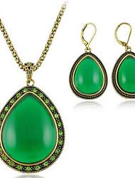 la aleación del estilo del pendiente del collar de la joyería del europeo