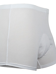 MOON Men's White Terylene+Cotton Cycling Shorts