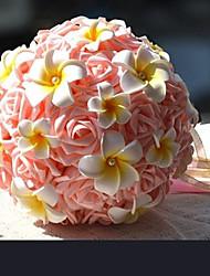 Forme Ronde Rose de mariage / partie Bouquet