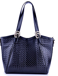 QDMY Fashion Imitation Of Weave Pattern Shoulder Bag/Tote(Black)