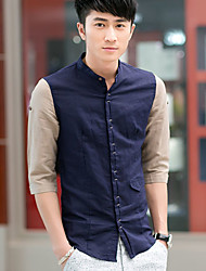 GBS Korean Style Slimming Casual 1/2 Length Sleeve Shirt