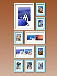 Blue Photo Wall Frame Collection Set of 10