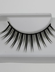 1 Pair Pro High Quality Hand Made Synthetic Fiber Hair Thin Long Style False Eyelashes