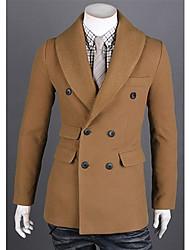 Men's Korean Version Simple Slim Trench Coat