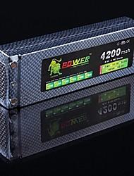 LION 7.4V 4200mAh 2S 30C Li-Po Battery (spina a banana)