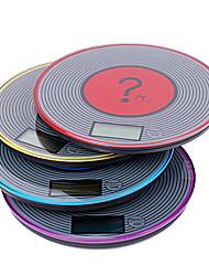 Escala da cozinha de plástico em forma de CD, Dia19cm cor aleatória Sent