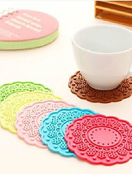 1 As per picture Silicone Round Placemat Home Decoration(Random Color)