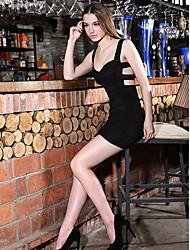 Women's Sexy V Collar Bodycon Dress