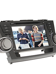 8inch 2 din in-dash auto dvd-speler voor Toyota Highlander 2008-2012 met gps, bt, ipod, rds, touch screen