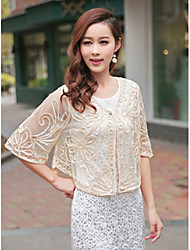 Party/Evening / Casual Lace Coats/Jackets Half-Sleeve