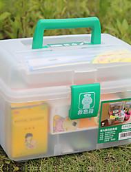 (26 * 17 * 18) de plástico Medicina Ambiental de armazenamento caixas de ferramentas