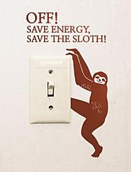 Animals Sloth Switch Sticker Wall Stickers