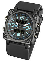 New Mens Infanterie Armee ForceDigital LCD Chronograph Sport Black Rubber Strap Military Watch (blau)