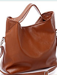 Erlen Women's Korean Style Simple Casual One Shoulder/Crossbody Bag(Brown)