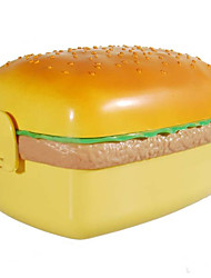 Leuke Hamburger Lunch Box met Lepel, W17cm x L10cm x H9cm