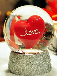 """regalos regalo dama de honor """"amor visible"""" bola de cristal"""