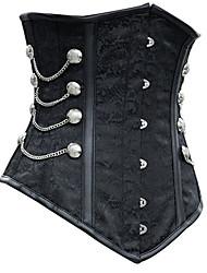 Serre Taille Vêtement de nuit Femme Couleur Pleine Polyester / Spandex Aux femmes