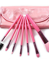 Cosmetic Brush Tools with Pink PU Pouch