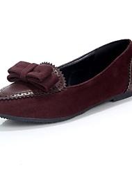 gamuza / women 's planos del talón pisos de comodidad con los zapatos bowknot (más colores)