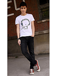 Men's Cute Picture Print T Shirt