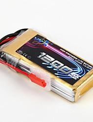 YKS 7.4V 1200mAh 2S 20C Li-Po Bateria (JST Plug)