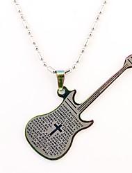 Персональный подарок гитара Shaped гравировкой Ожерелье (разных цветов)