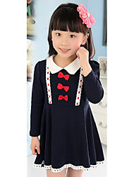 Girl's Cotton Dress , Winter Long Sleeve
